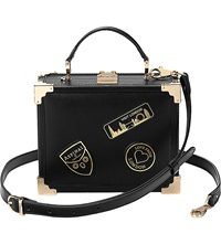 Aspinal Of London Trunk Patch Clutch Bag Black