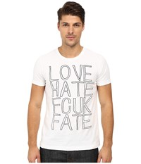 French Connection Fcuk Fate Tee Optic White Black Men's T Shirt