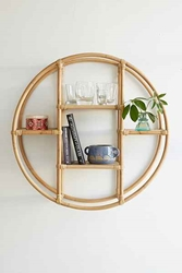 Magical Thinking Rattan Circle Shelf Urban Outfitters