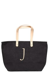 Cathy's Concepts 'Nantucket' Personalized Jute Tote Black Black J