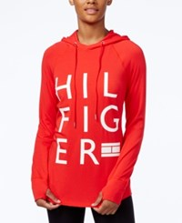 Tommy Hilfiger Logo Hoodie Only At Macy's Red