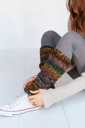 Urban Outfitters Pixilated Lurex Leg Warmer Black Multi