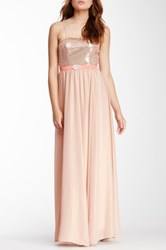 Champagne And Strawberry Sequin Dress Pink