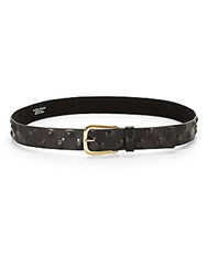Streets Ahead Leather Pyramid Stud Belt Black