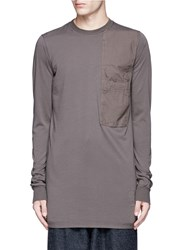 Rick Owens Patch Pocket Long Sleeve T Shirt Brown