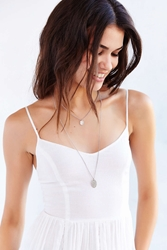 Urban Outfitters Hammered High Low Necklace Silver