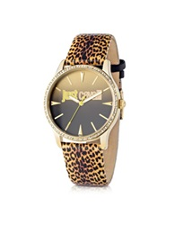 Just Cavalli Just Paradise Yellow Animal Print Women's Watch Multicolor