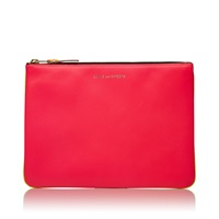 Comme Des Garcons Sa5100sf New Super Fluo Wallet Pink And Yellow