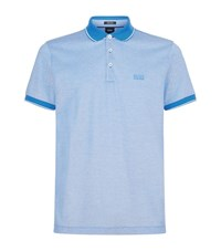 Boss Mercerised Cotton Polo Top Male Blue