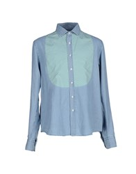 Salvatore Piccolo Shirts Shirts Men Turquoise