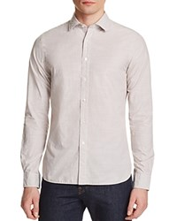 The Men's Store At Bloomingdale's Microstripe Classic Fit Button Down Shirt Taupe Stripe