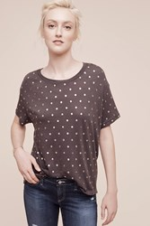 Anthropologie Stiched And Spotted Tee Dark Grey