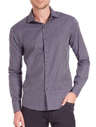 Vince Camuto Slim Fit Checked Shirt Multi