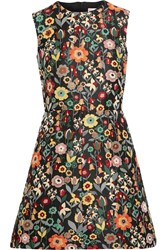 Red Valentino Redvalentino Jacquard Mini Dress Black