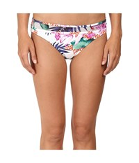 Tommy Bahama Orchid Canopy Hipster Bottom White Women's Swimwear