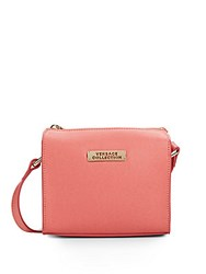 Versace Square Leather Crossbody Bag Coral