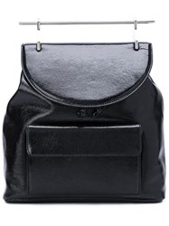 M2malletier Signature Top Handle Backpack Black