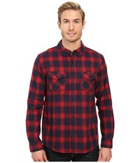 United By Blue Pinnacle Plaid Red Navy Men's Clothing Multi