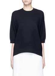 Vince 3 4 Sleeve Cashmere Sweater Black