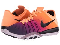 Nike Free Tr 6 Spectrum Bright Mango Black Bleached Lilac Purple Women's Cross Training Shoes