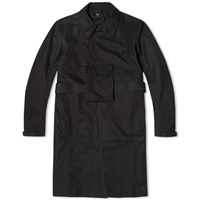 Acronym J39 S Light Shell Gabardine Trench Coat Black