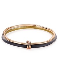 Alexis Bittar Lucite And Liquid Metal Double Skinny Bangles Set Of 2 Black