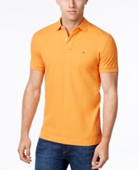 Tommy Hilfiger Men's Custom Fit Ivy Polo Amber Glow