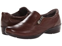 Naturalizer Clarissa Coffee Bean Leather Women's Flat Shoes Brown