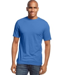 John Ashford Big And Tall Short Sleeve Crew Neck T Shirt Brisk Blue