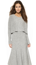 Nicholas Boiled Knit Crop Sweater Salt And Pepper