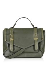 Topshop Smart Satchel Khaki
