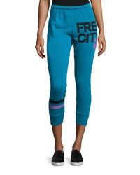 Freecity Strike Sounds Cropped Jogger Pants Blue