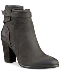 Vince Camuto Faythe Layered Booties Women's Shoes Battleship Gray