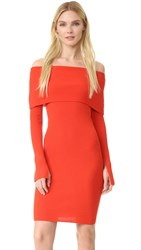 Edition10 Long Sleeve Dress Fiery Red