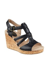 Sperry Dawn Day Wedge Sandals Black