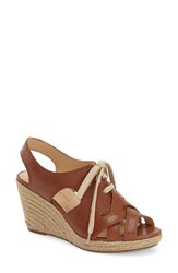 Women's Bella Vita 'Gracia' Espadrille Sandal Dark Tan Leather