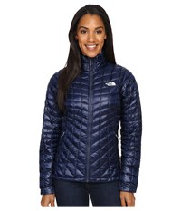 The North Face Thermoball Full Zip Jacket Cosmic Blue Artic Ice Blue Women's Coat