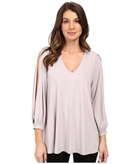 Susana Monaco Alaina Top Dove Women's Long Sleeve Pullover Beige
