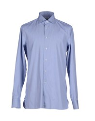Lorenzini Shirts Shirts Men Sky Blue