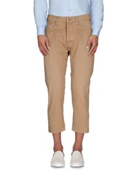 People Trousers 3 4 Length Trousers Men Sand