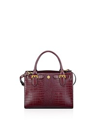 Anne Klein Small Jessica Embossed Tote Garnet