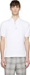 Thom Browne White Knit Polo Shirt