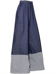 Antonio Marras High Waist Wide Leg Stretch Denim Jeans