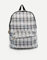 Pull And Bear Pullandbear Tweed Backpack Multi