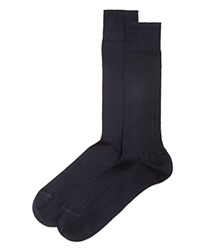 The Men's Store At Bloomingdale's Ribbed Cotton Blend Socks Navy