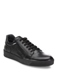 To Boot Barton Burnished Calfskin Leather Sneakers Black