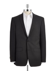 Dkny Skinny Two Button Suit Jacket Black