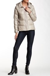 Vince Camuto Short Hooded Down Jacket Blue