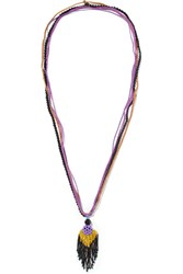 Etro Beaded Necklace Purple