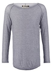 One Green Elephant Bosques Long Sleeved Top Light Grey Melange